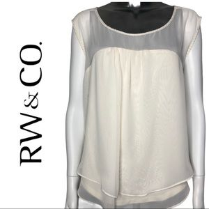 🔥Bundle 3 or More Save 40%🔥RW & Co. Beaded Top